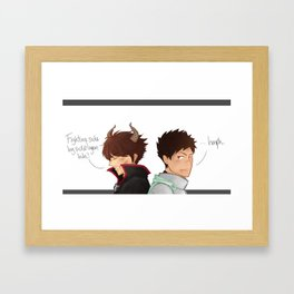 a king and his knight Framed Art Print
