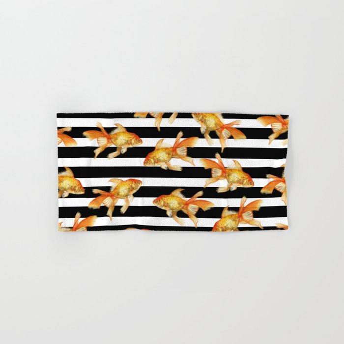 The Golden One II - b&w stripes Hand & Bath Towel