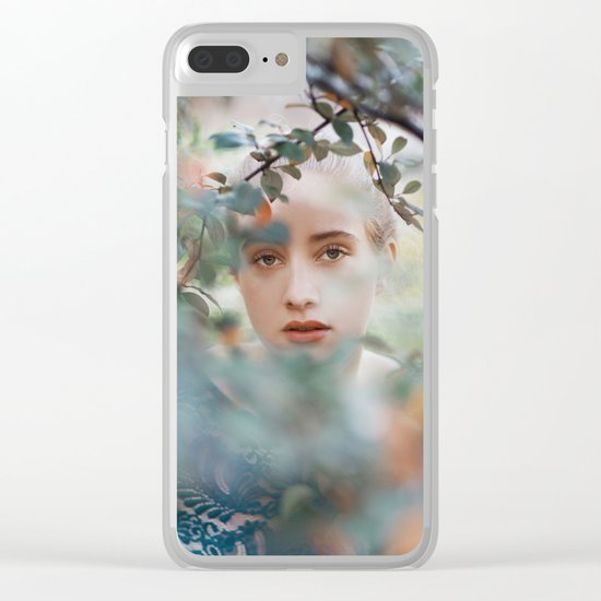 Through leaves Clear iPhone Case