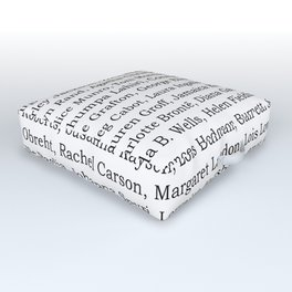 The Ladies of Literature Pattern Outdoor Floor Cushion