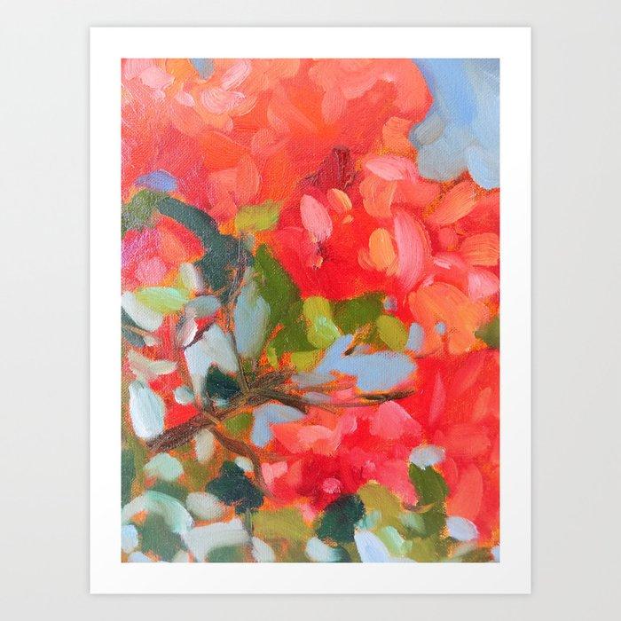 Vermillion Blooms Kunstdrucke
