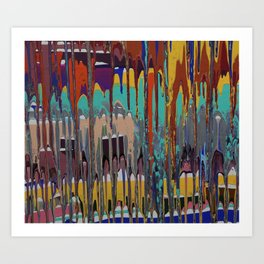 Drippage Art Print