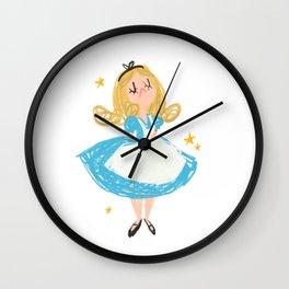 Curiouser and Curiouser Wall Clock