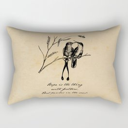 Emily Dickinson - Hope is the Thing with Feathers Rectangular Pillow
