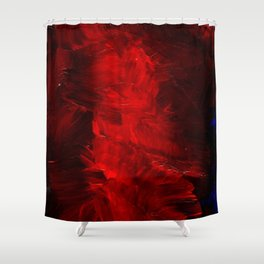 Red Abstract Paint | Corbin Henry Artist Shower Curtain