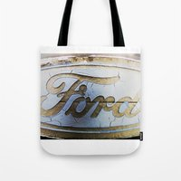 ford Tote Bags featuring Ford by Sarah Welch