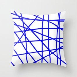 Doodle (Blue & White) Throw Pillow