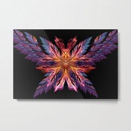 Flame Flower with Wings Metal Print