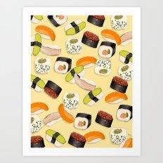 Sushi Party Art Print