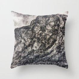 Grey Moutain by Gerlinde Streit Throw Pillow