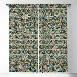 sun bear geo mint Blackout Curtain