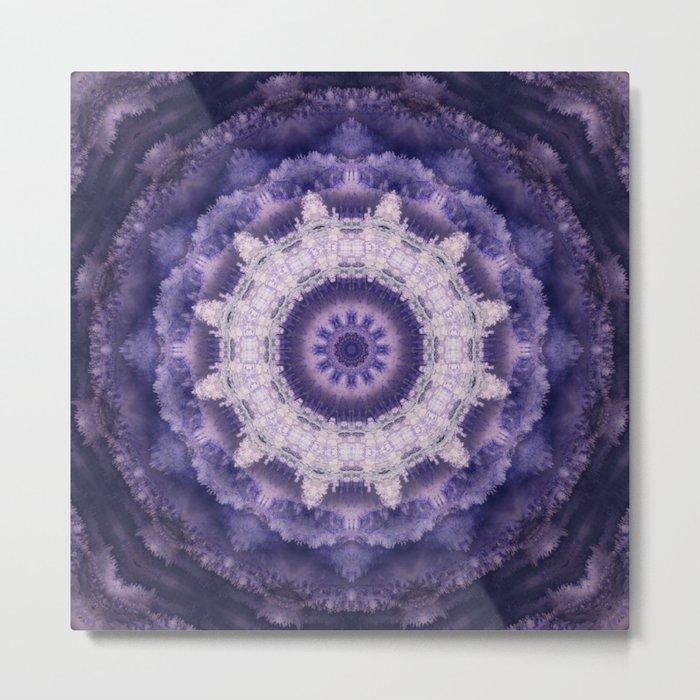 Mandala in purple colors . Metal Print