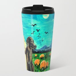 Dogs in Pumpkin Patch Travel Mug