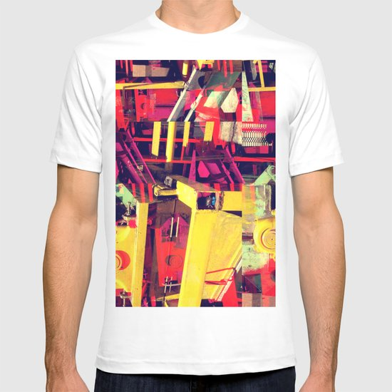 Industrial Abstract Red T-shirt