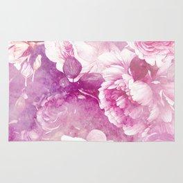 rose garden in purple Rug