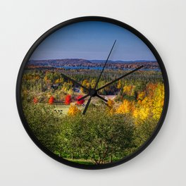 Pictures Michigan USA Leelanau Nature Autumn Scenery Trees landscape photography Wall Clock
