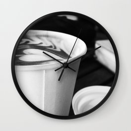 Cups of Coffee Wall Clock