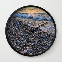 Waves and Stones Wall Clock