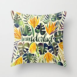 Tropical Wanderlust – Orange & Emerald Throw Pillow