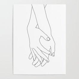 Holding hands illustration - Elana White Poster