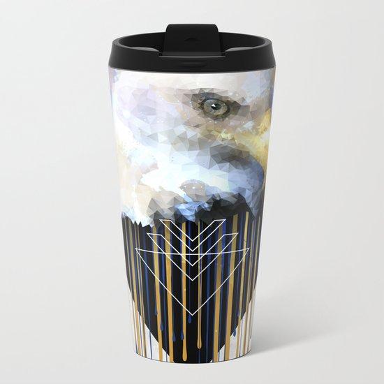 Wise Eagle Metal Travel Mug