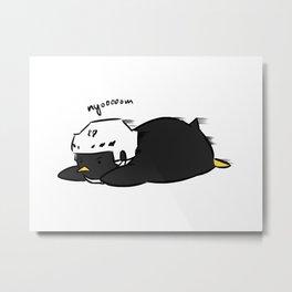 penguins hockey Metal Print