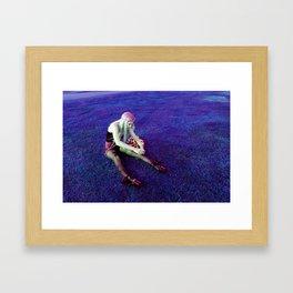 KT in Purple Blades Framed Art Print