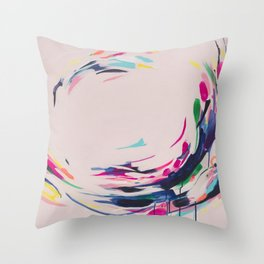 This Electric - Abstract Painting by Jen Sievers #society6 Throw Pillow