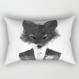minima - dapper fox | noir Rectangular Pillow