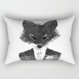 minima - dapper fox   noir Rectangular Pillow