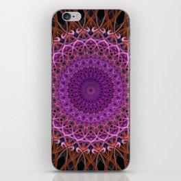 Violet and red mandala iPhone Skin