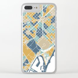 Barcelona map Clear iPhone Case
