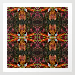 267 - Abstract foliage pattern Art Print