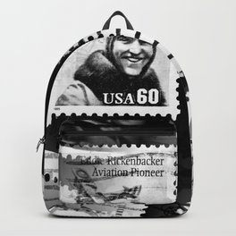 Nostalgic Stamps In Black And White #decor #society6 #homedecor Backpack