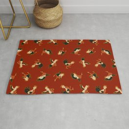 Fighting Roosters Rug