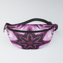 Bright Dark Violet Wine Red Abstract Blossom #purple #kaleidoscope Fanny Pack