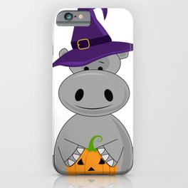 Holiday Hippo Halloween Witch Hippo iPhone Case