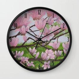 A Magnolia Tree Wall Clock