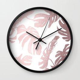 Rose Gold Island Wall Clock