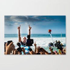 Kelly Slater Pipe Masters Victory - Hawaii - 2013 Canvas Print
