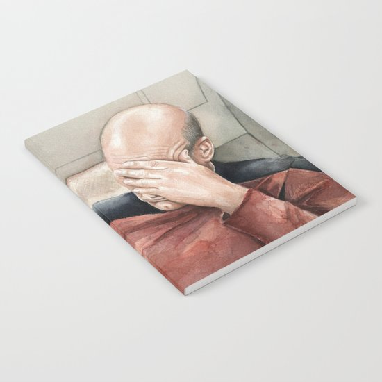 Picard Facepalm Meme Funny Geek Sci-fi Captain Picard TNG Notebook
