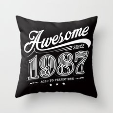 Awesome since 1987 Throw Pillow