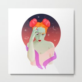 2 cool for this world Metal Print