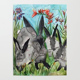 Bunny Mommy Poster