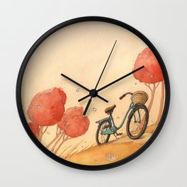 Lonely Bike Wall Clock