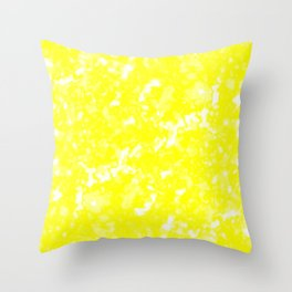 A bright cluster of yellow bodies on a light background. Throw Pillow