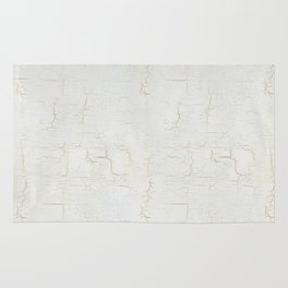 White Crackle Paint on Gold Pattern Rug