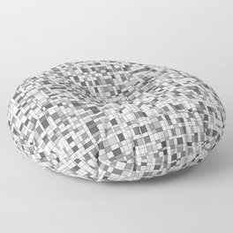 Gray Scale Grid - There's Nothing Left Floor Pillow