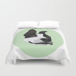 Silly Pitbull Duvet Cover