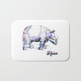Rhino Glitch | Digital Art Bath Mat